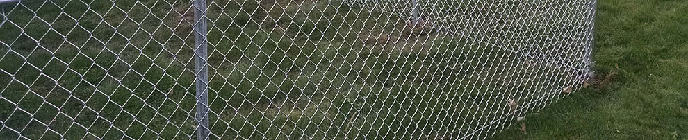 chain link fence in yard